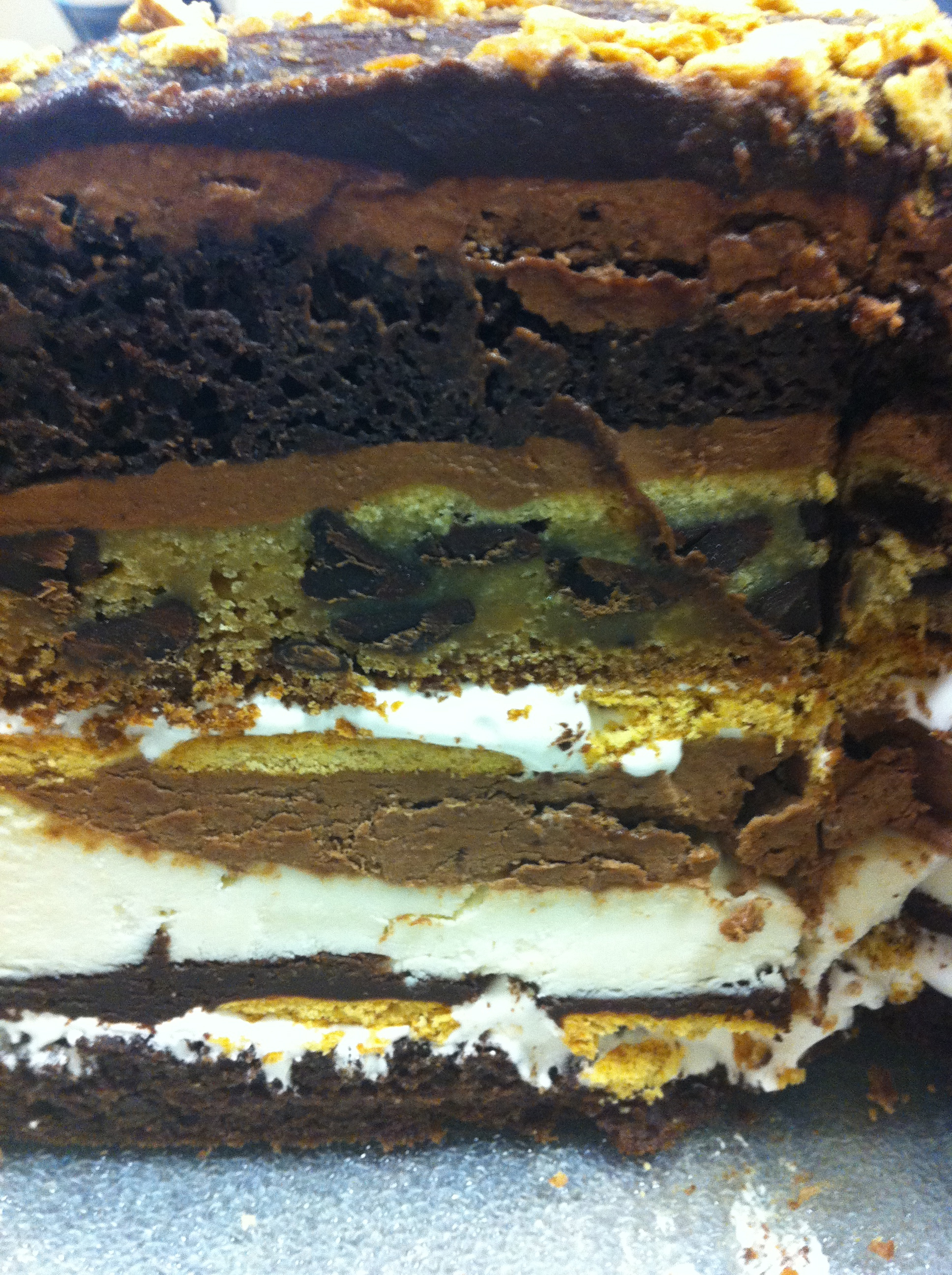 a closer look- the S&#039;more Cake