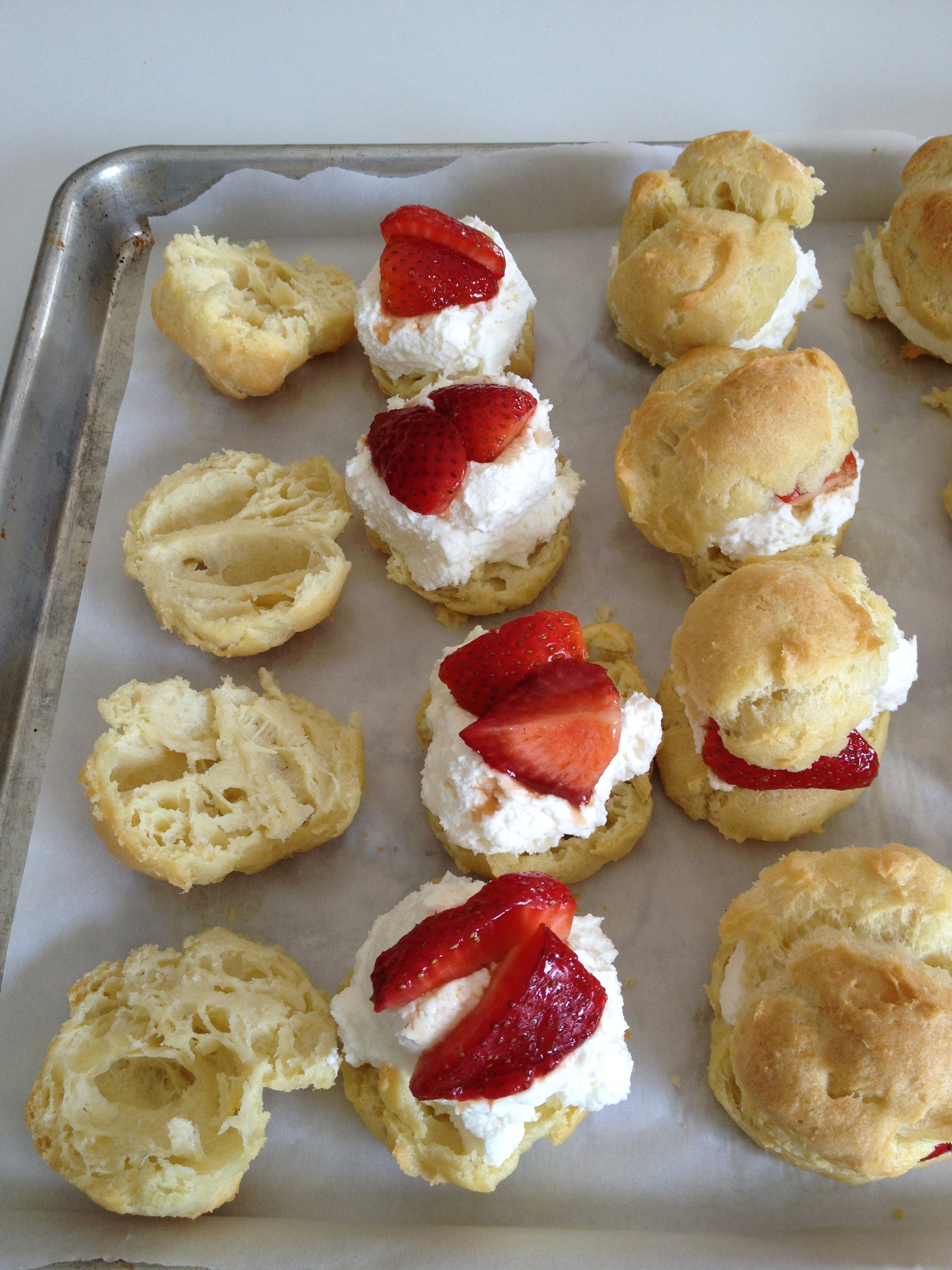 Strawberry Cream Puffs With Milk Chocolate Sauce Recipes — Dishmaps
