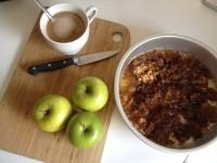 Roasted Cinnamon and Rum Caramel Apple Upside Down Cake