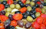 Roasted Olive and Tomato Bruschetta
