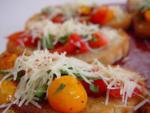 Tomato Zucchini Bruschetta