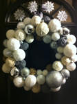 It's craft time! Winter Snowball Wreath
