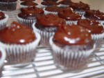 As promised.... Chocolate Chip Zucchini Cupcakes with Chocolate Ganache frosting